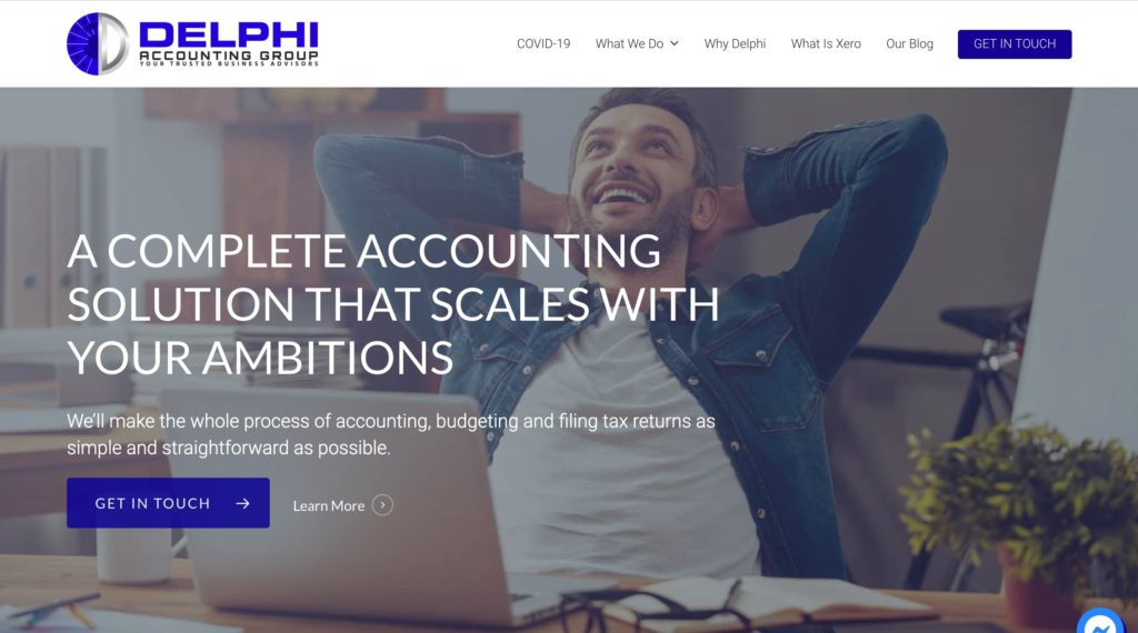 Delphi Accounting Group, Vindiweb Ltd - Web Design Tauranga, Custom development, SEO + Marketing